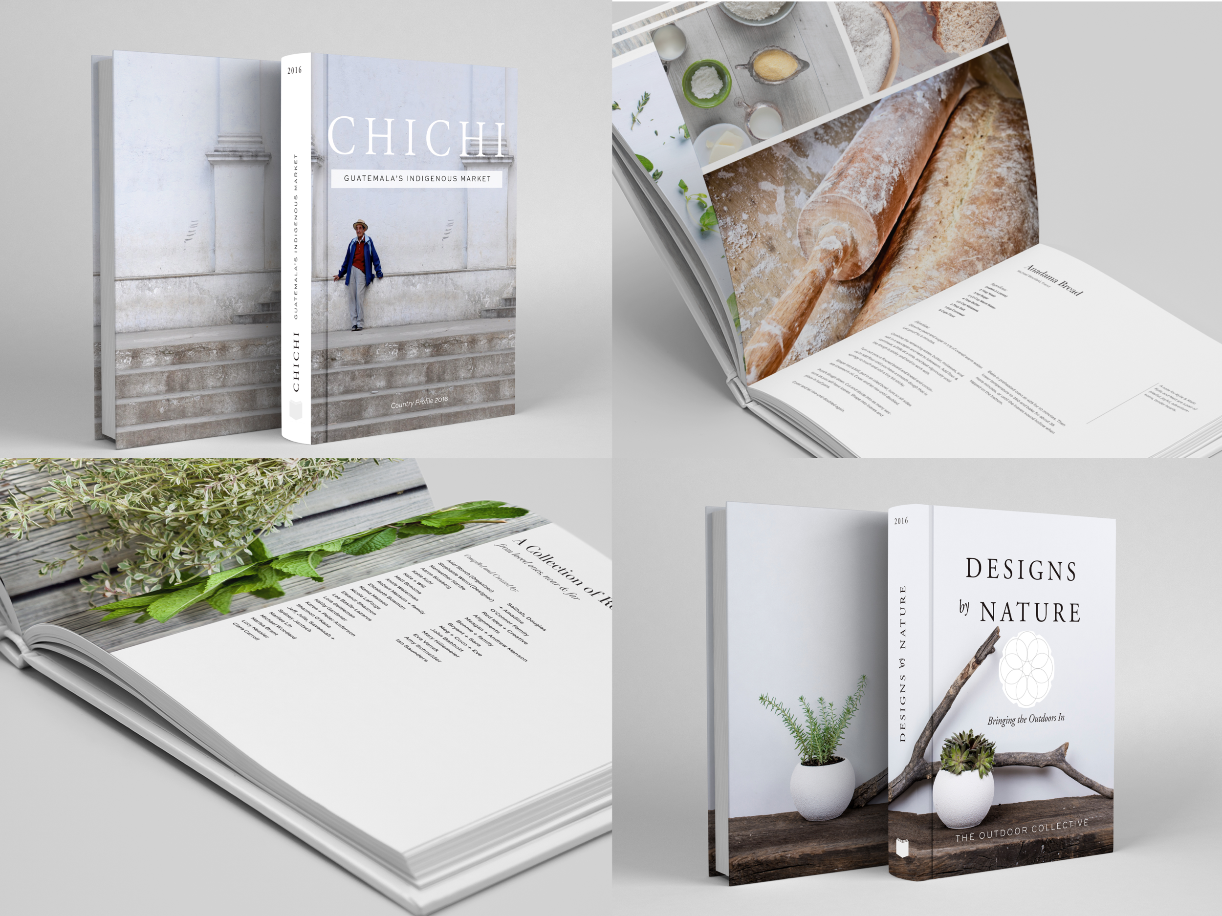 These books were designed for custom personal projects to share traditional artistry, culture, community and food.