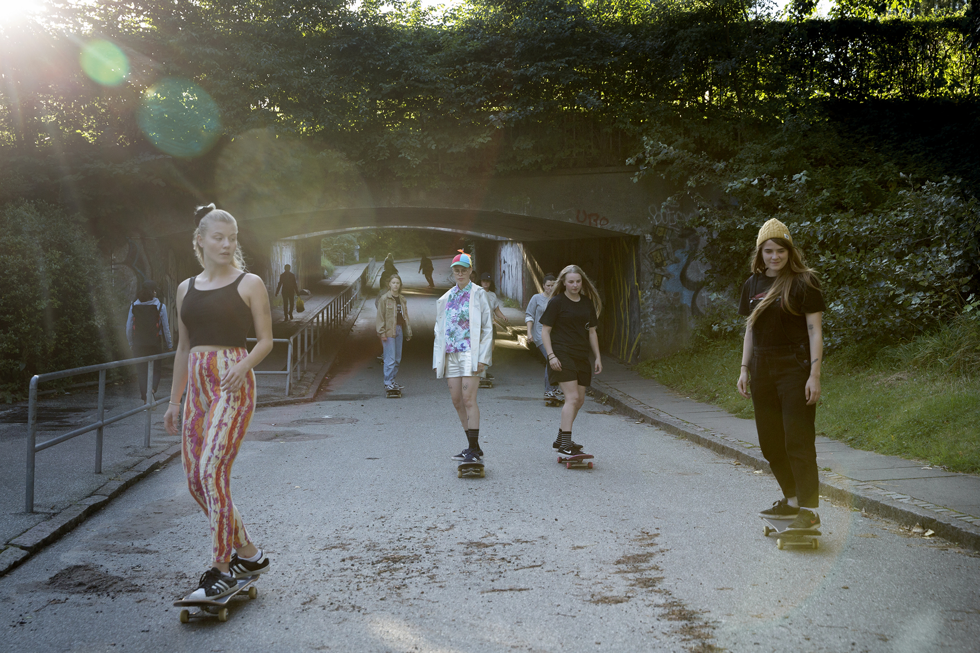 "The danish ""Don't give a fox"" skater crew."