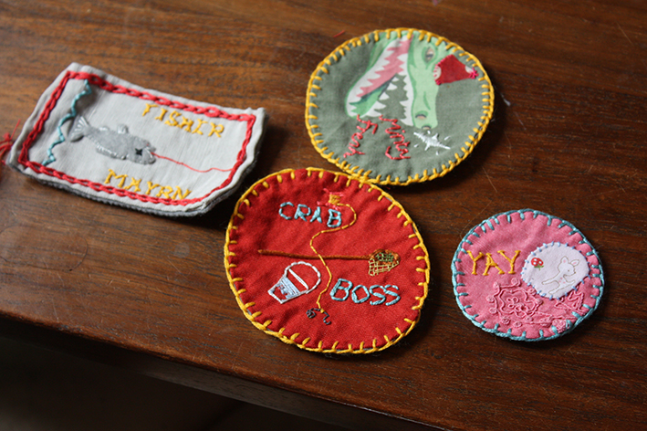 Some beautiful badges originally destined for a blanket.