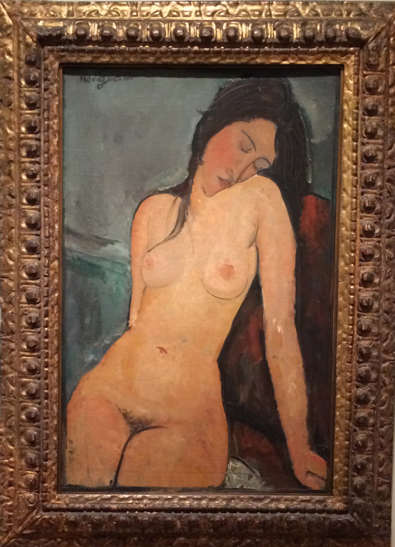 Modigliani, The Female nude circa 1916.