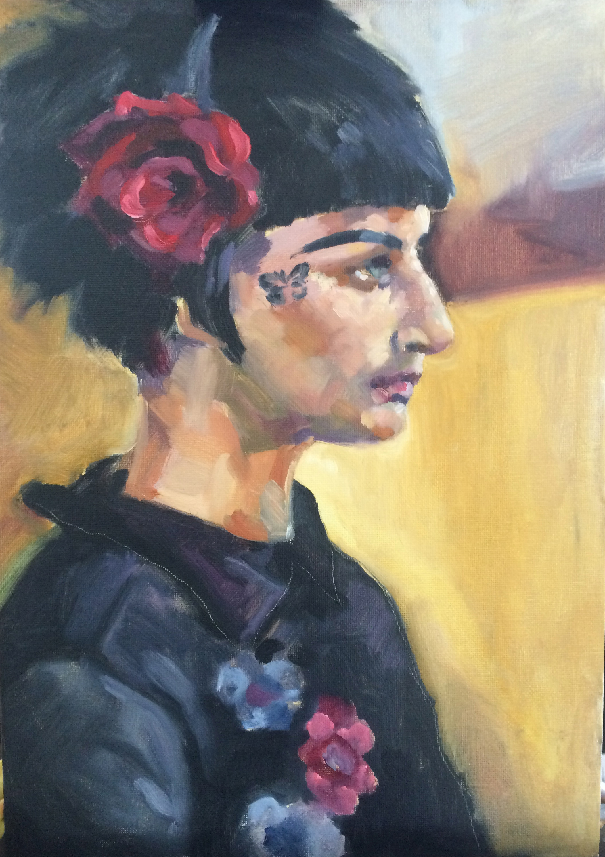 Profile of Laura from Portrait Painting Masterclass with Ilaria Rosselli Del Turco. May 2016.