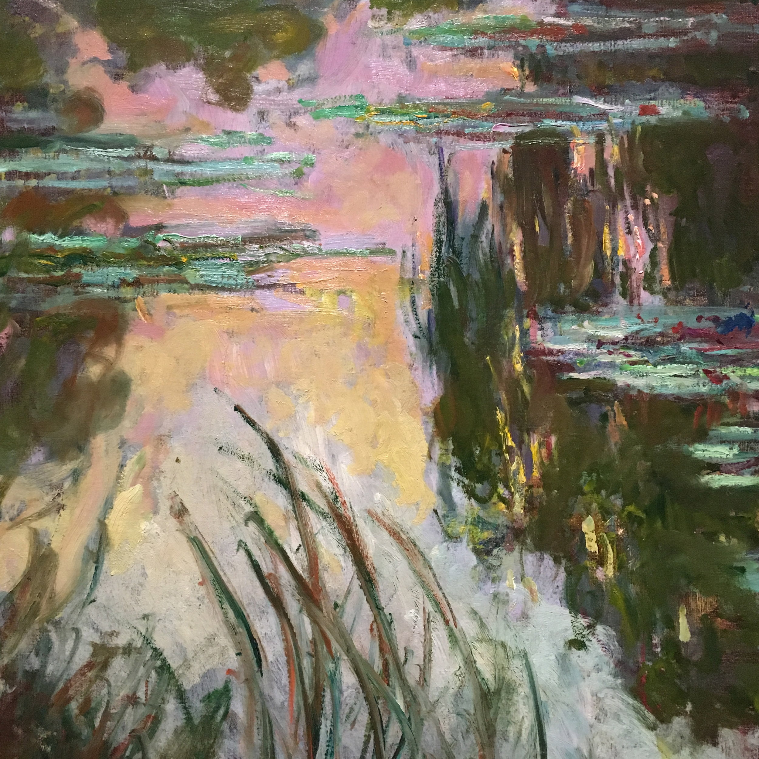 Monet, Water Lillies, Setting Sun (1907)