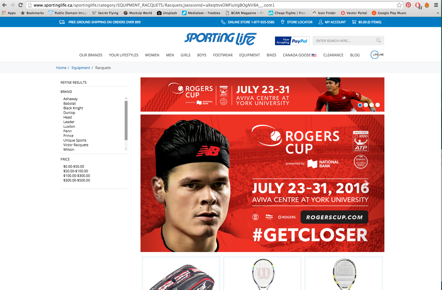 Web Banners for Sporting Life website