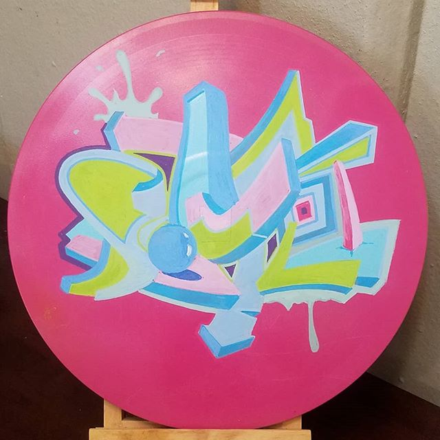 WIP for upcoming the @spectraartspace show  For The Record  #vinyl #records #pieces #graffiti #fortherecord  #vinylart #vinylartwork  #design #acrylic #spectraartspace #art #betair #abstractartist #artwork #wip #workinprogress