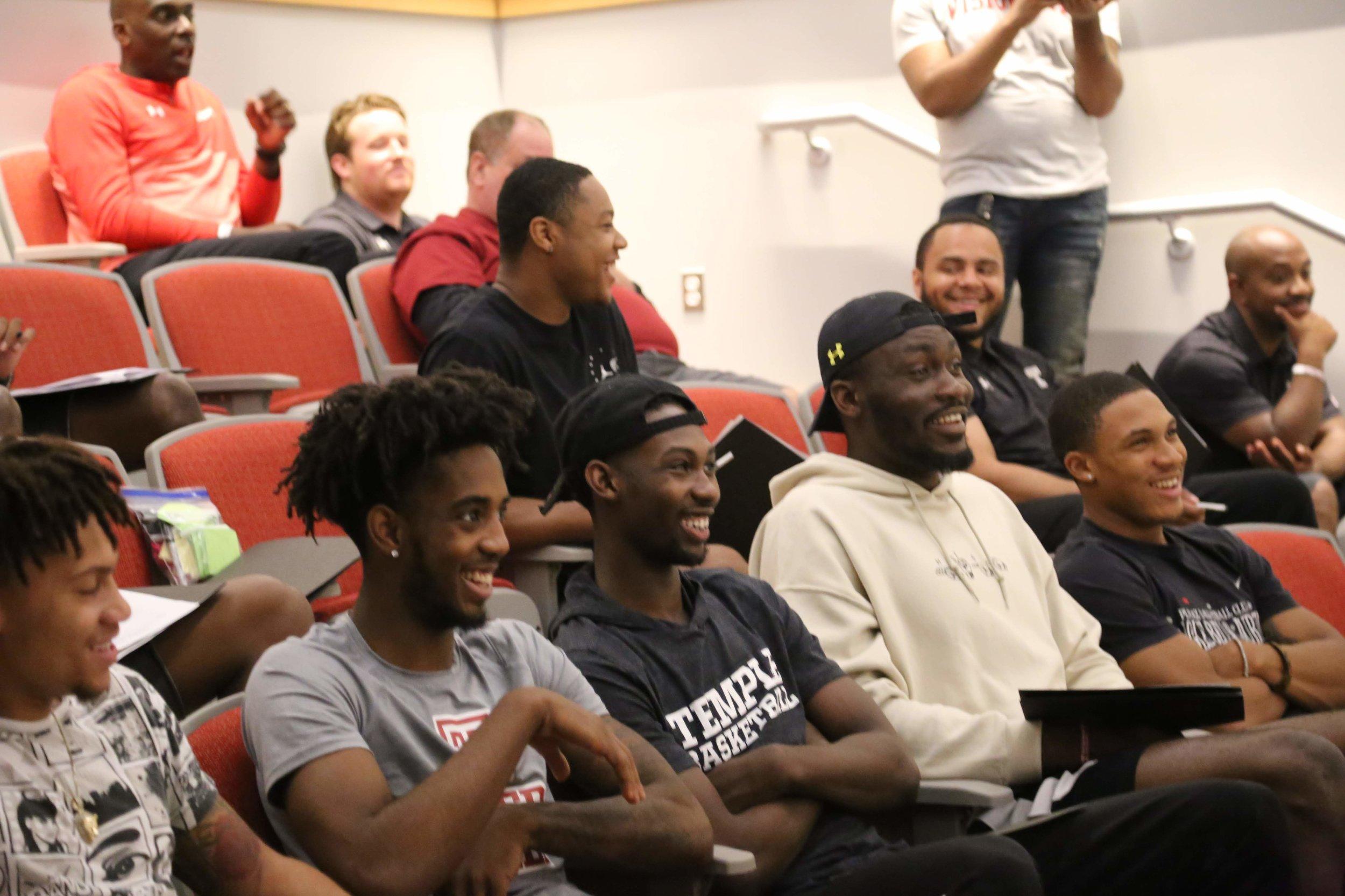 D-1 men's basketball during instruction