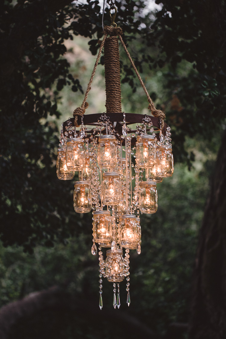 Use Mason Jars for lighting. It may take a little time but definitely adds a lot to the decor in the end.