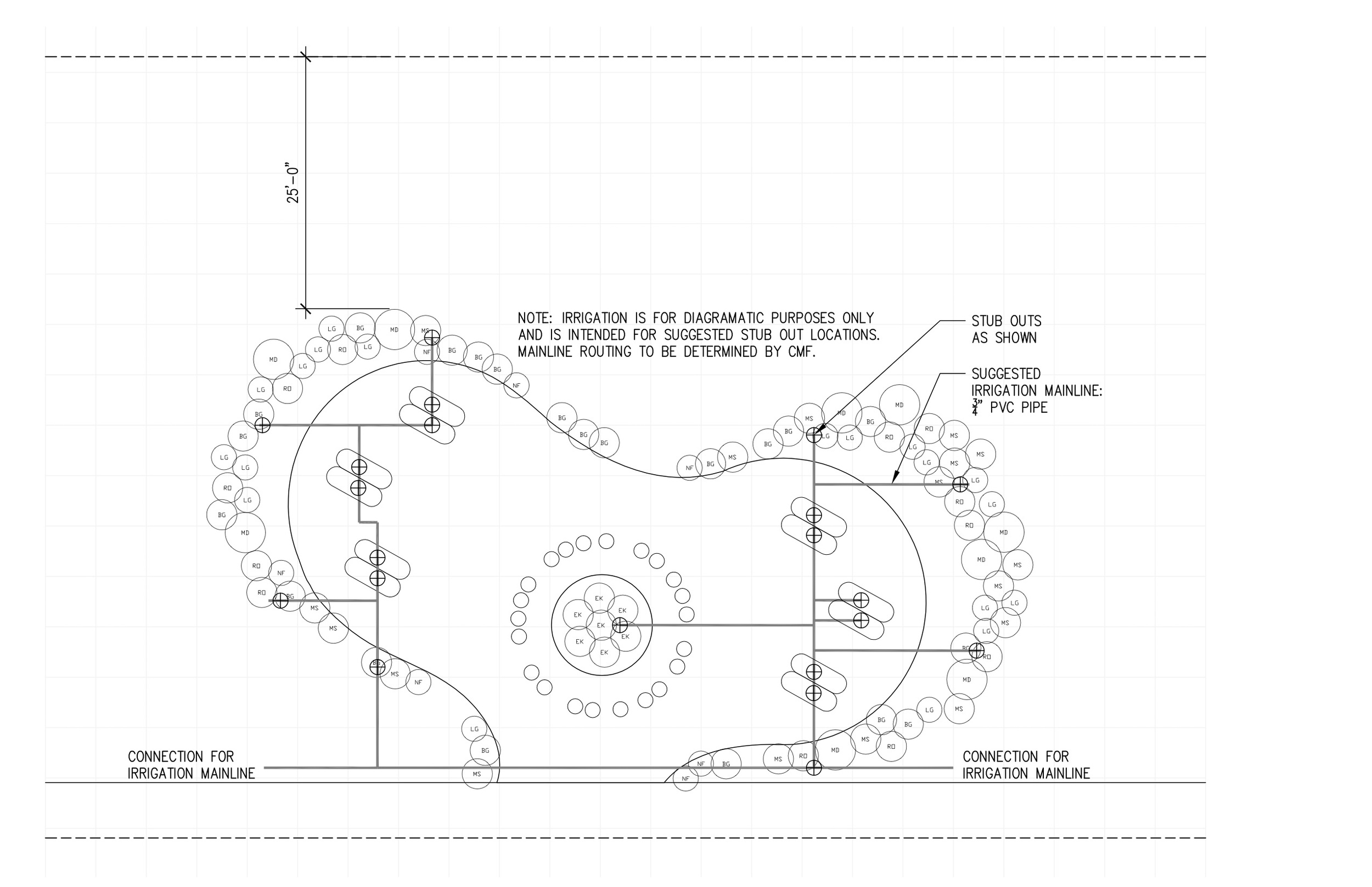 Ameboid layout for garden at Correctional Medical Facility