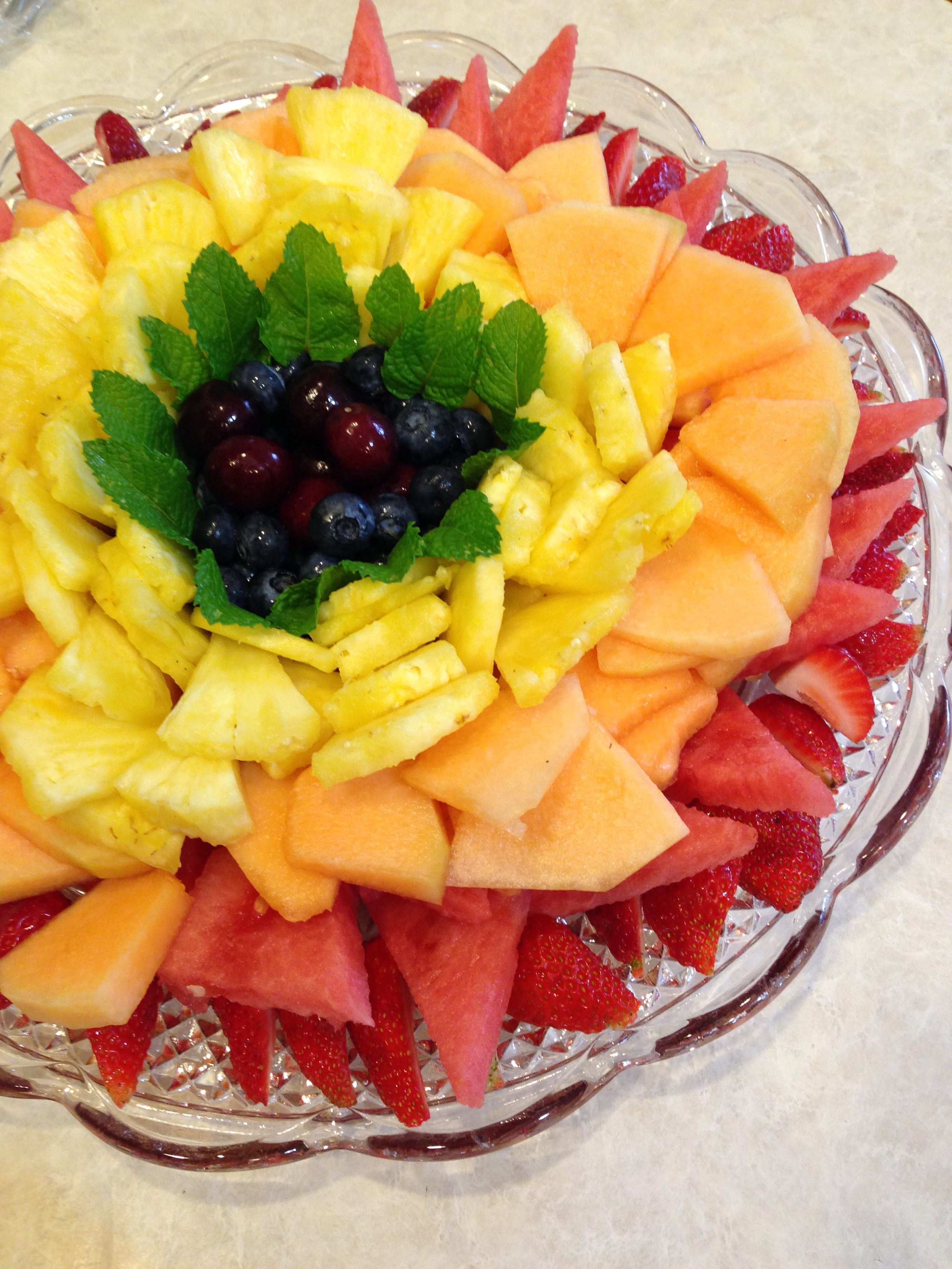 Rainbow Flower Fruit Platter.