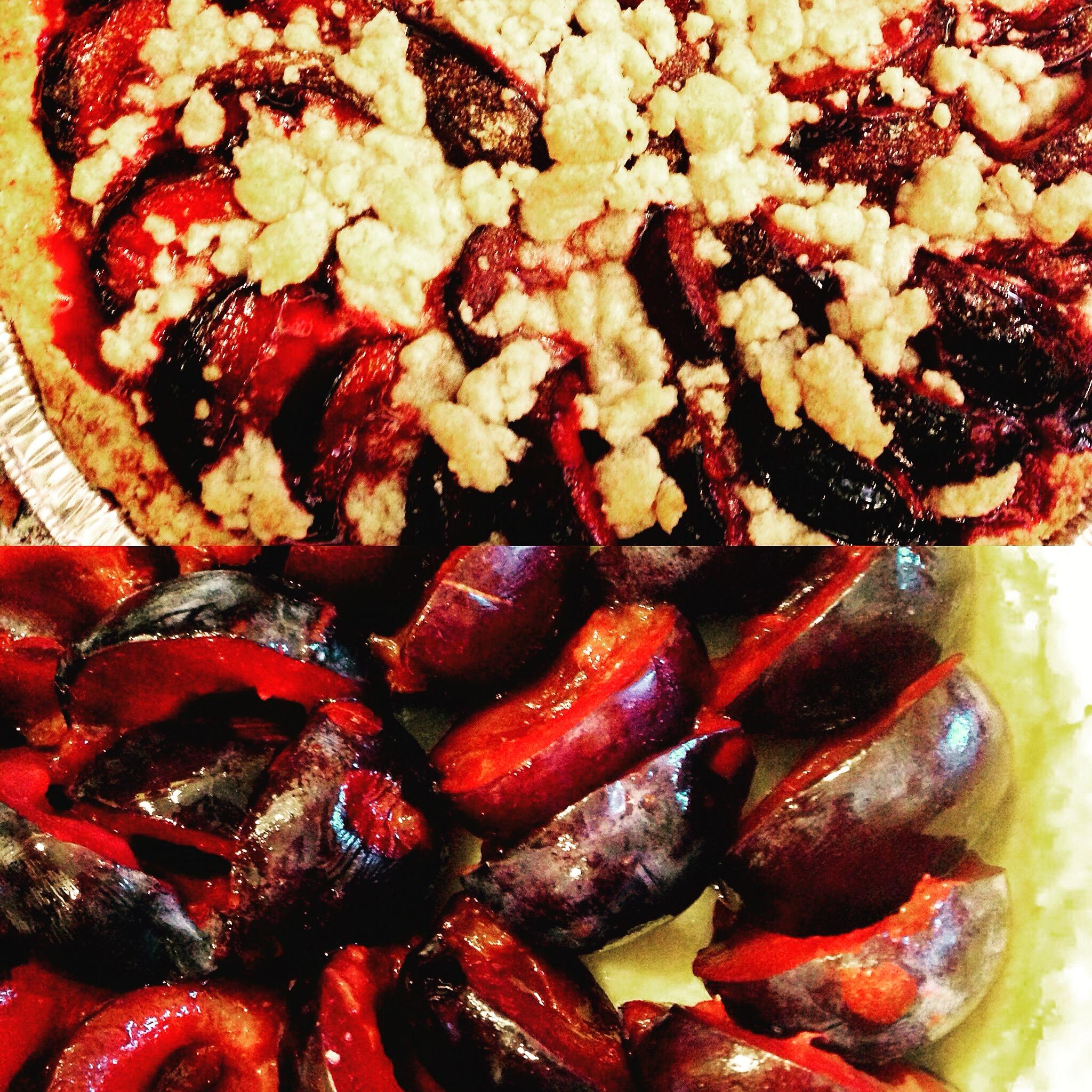 Delicious traditional plum kuchen!