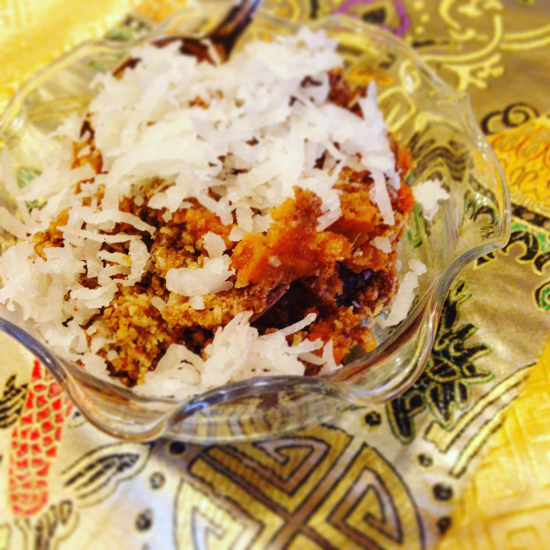 Coconut and Date Sugar Sweet Potato Bake