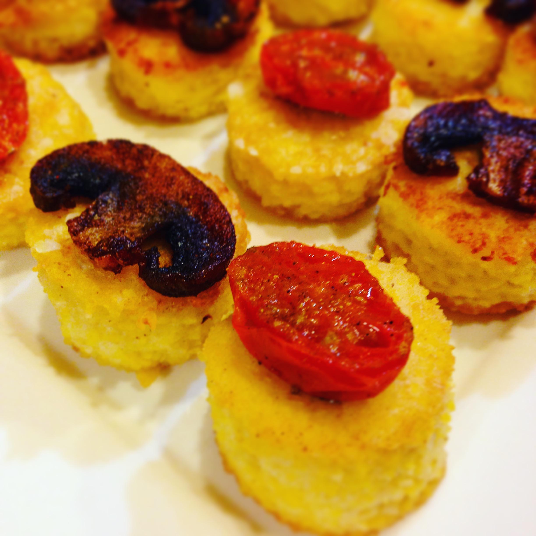 Coconut Polenta Appetizer Rounds