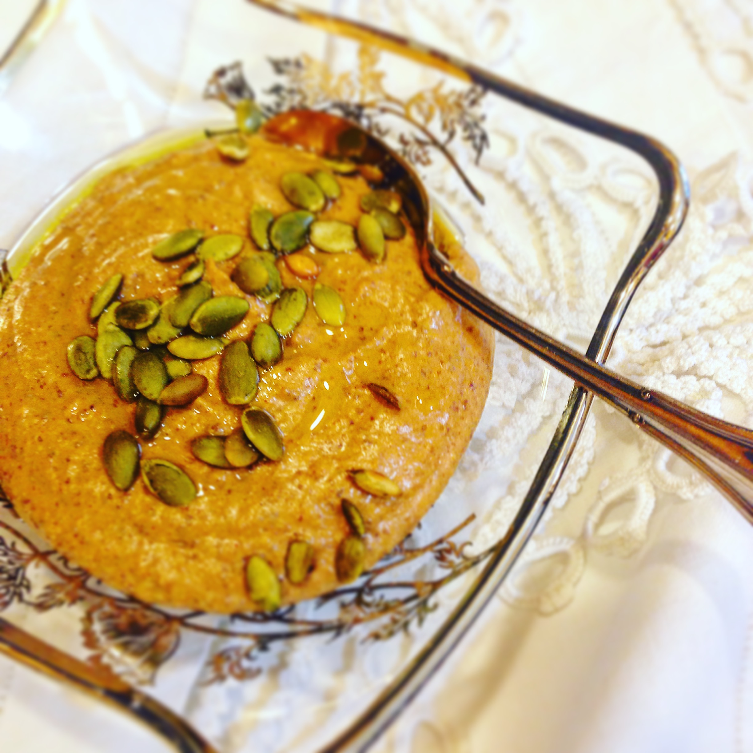 pumpkin seed and chili hummus