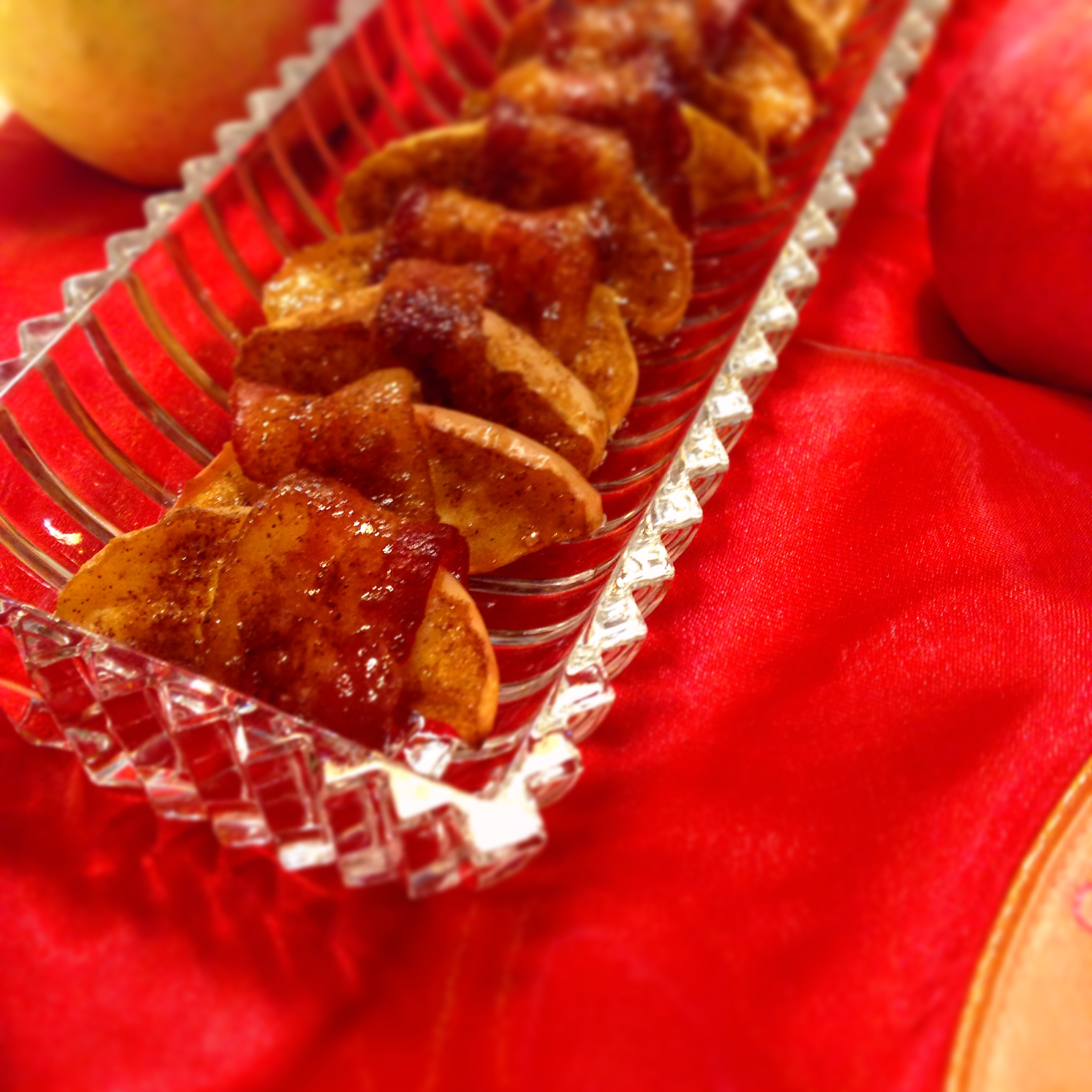 spiced bacon wrapped apples