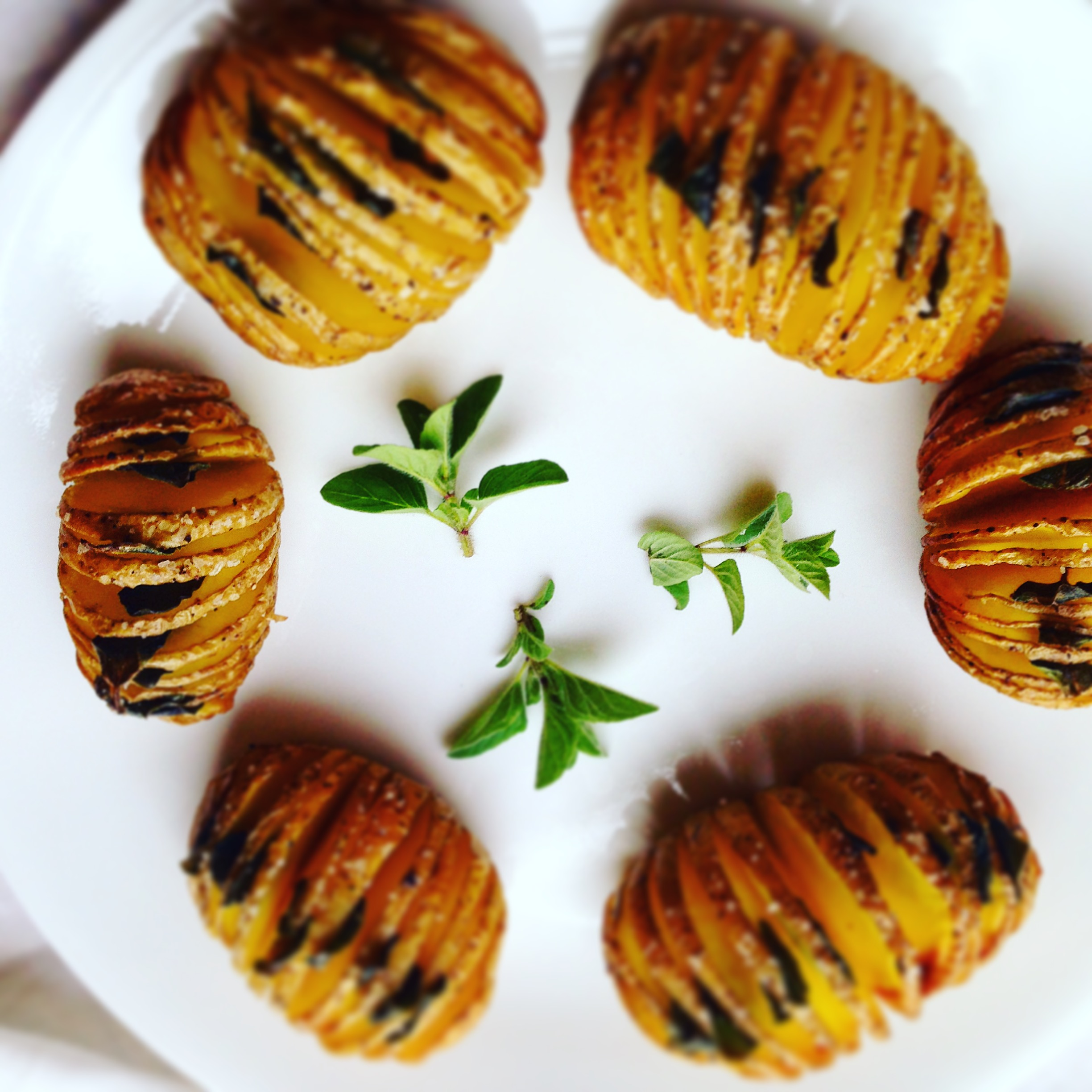 Dairy Free Herb Hasselback Potatoes