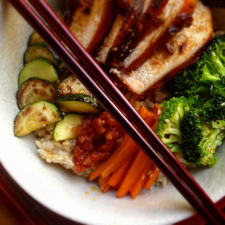 Korean BBQ Chicken Rice Bowl