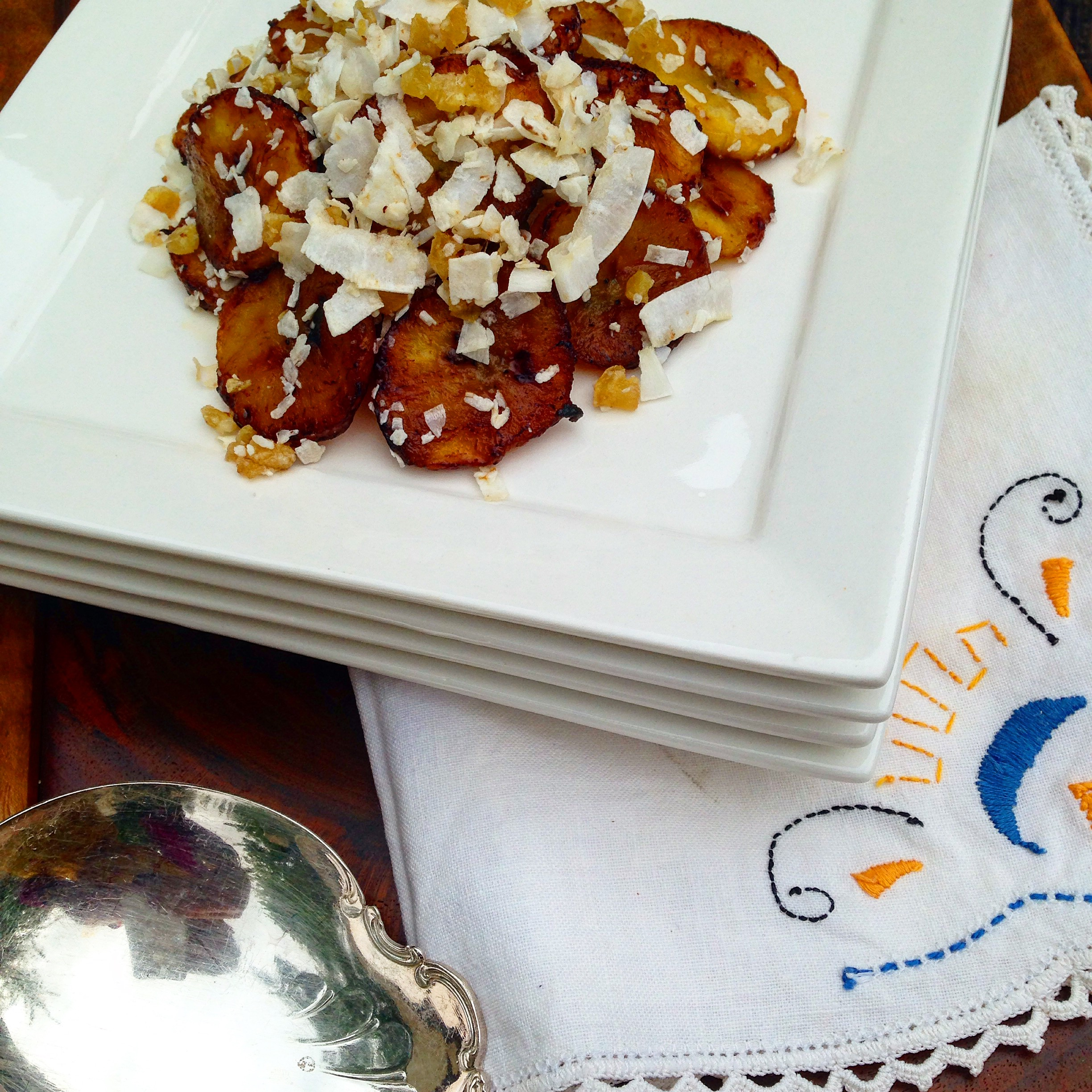 coconut ginger plantains