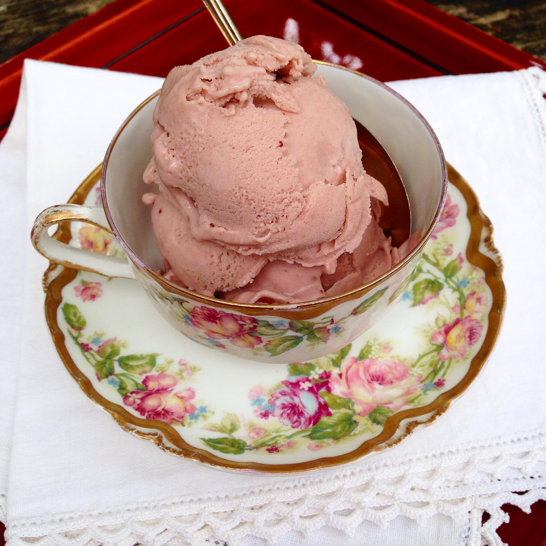 paleo strawberry honey frozen custard