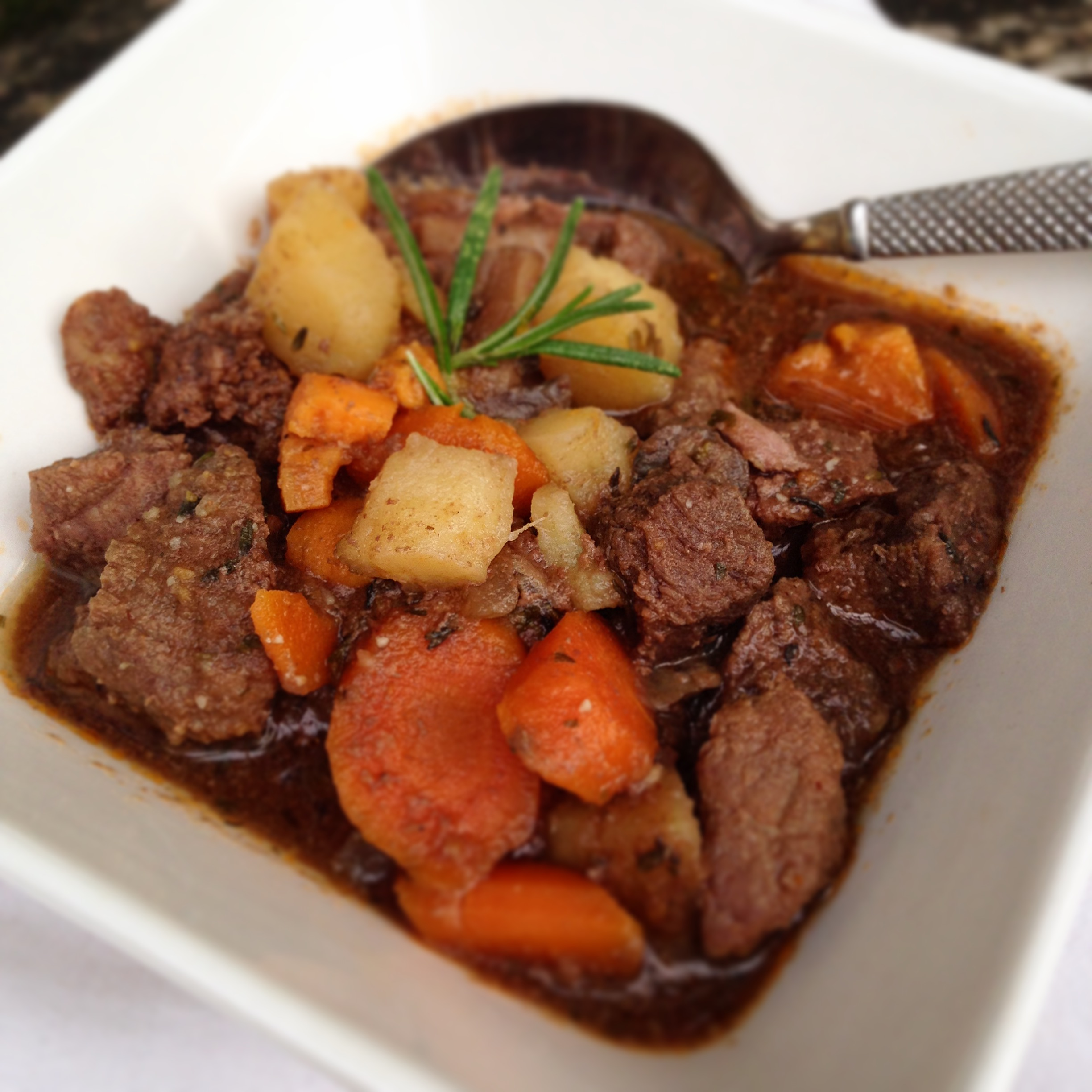 Hearty Beef Stew with Sweet Potatoes