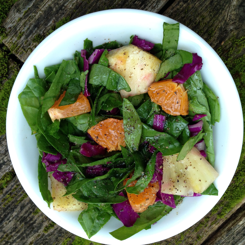 citrus spinach salad