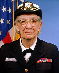 """  Commodore Grace M. Hopper, USN (covered) ,"" by  Expert Infantry    is licensed under  CC by 2.0."