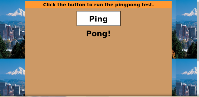 Ping Pong test website built for my Epicodus application.