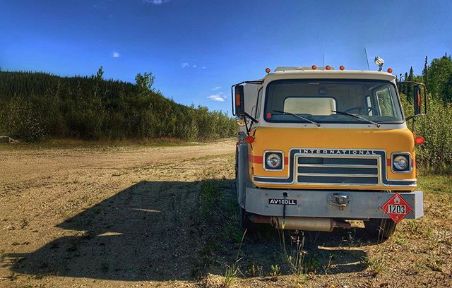 Retro truck, looking pretty happy