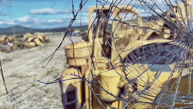 Gold mines have extensive bone yards #goldrush #brokenstuff #windowshot