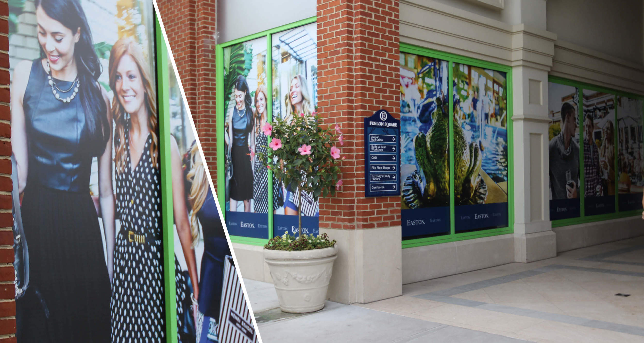 Exterior Store Branding  Window Graphics