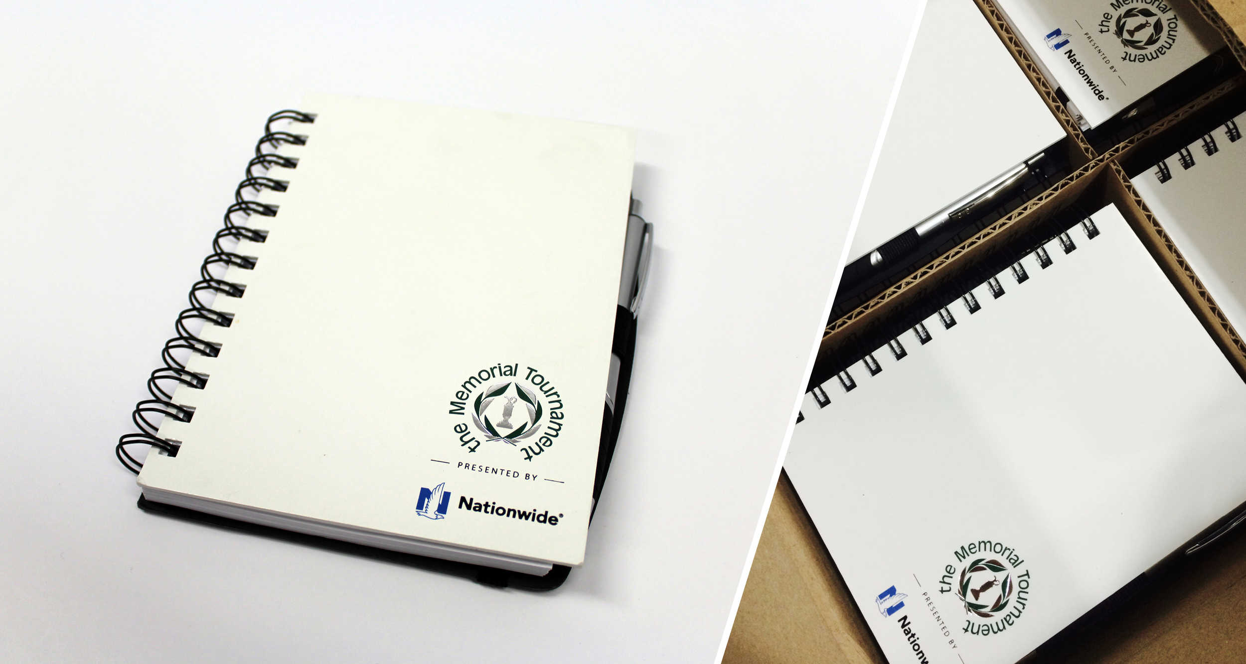 Event Promotion Stamped Notebooks, Pens