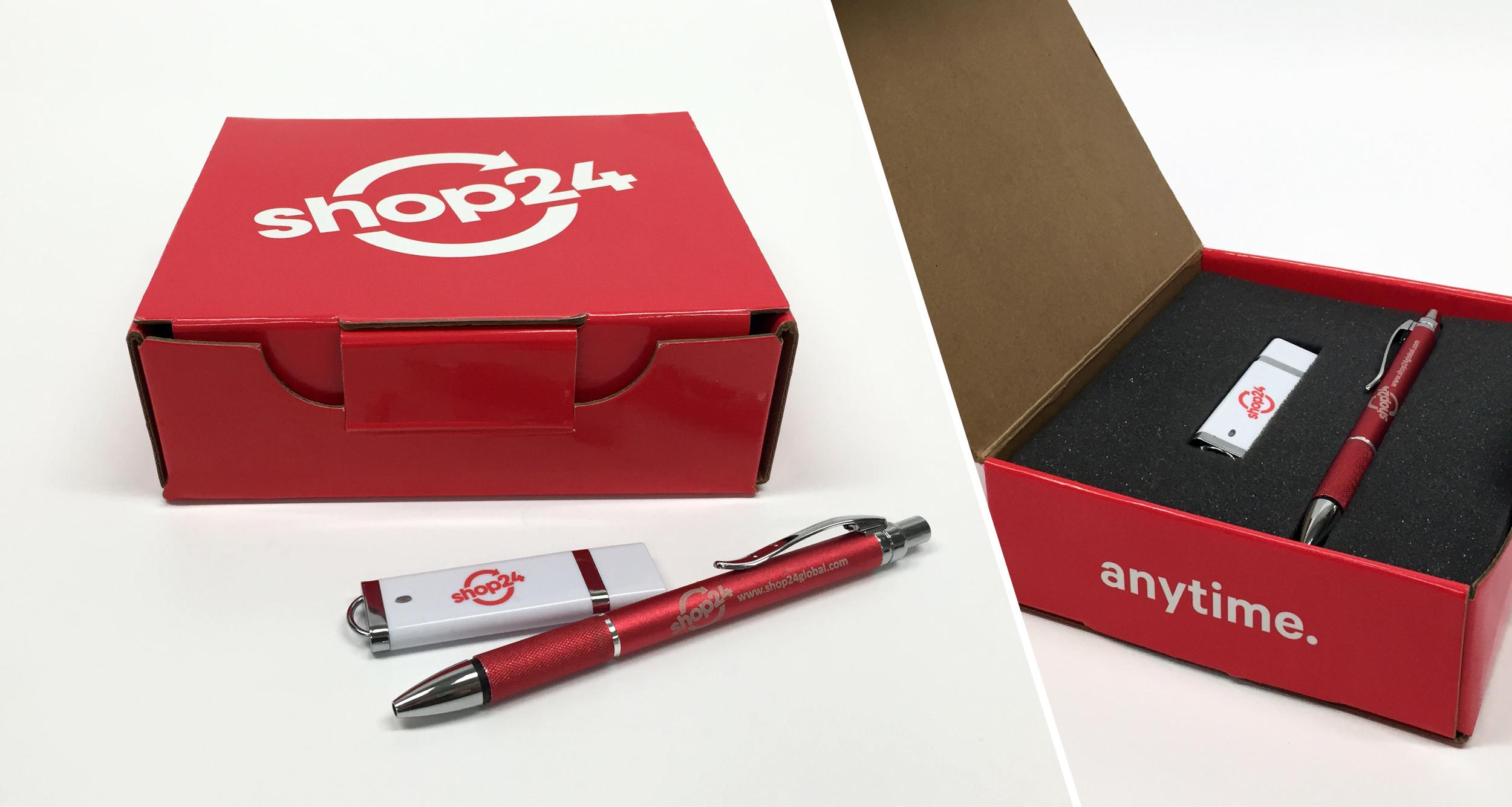 Corporate Brand  Custom Box, USB, Pens