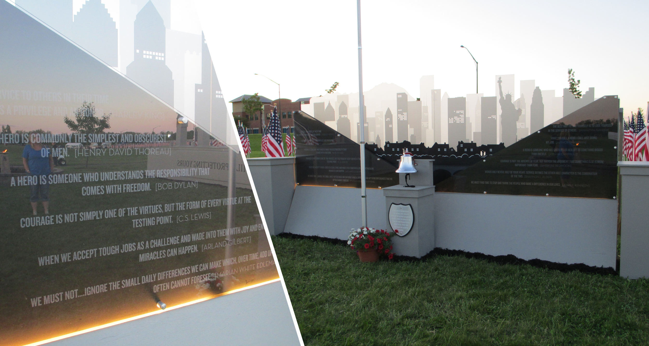 Memorial Displays  Design, Manufactured, Installation