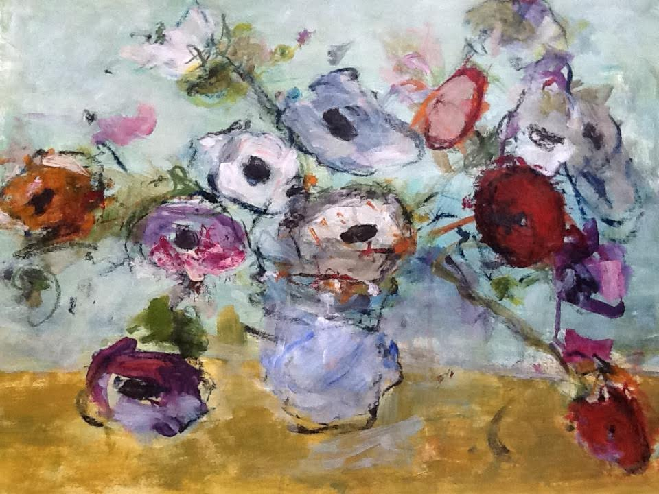Arrangement in Blue Vase 1