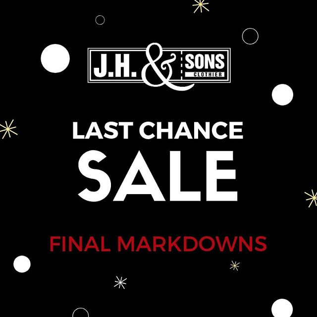 Shop our final markdowns of the season before they're gone.  Don't miss out!