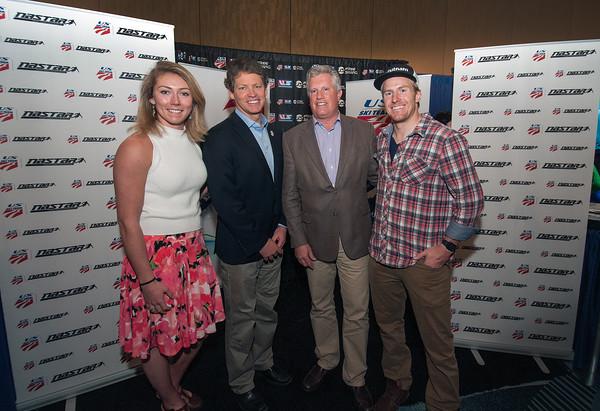Mikaela Shiffrin, TIger Shaw, Andy Clurman & TEd LIgety (photo Courtesy - Tom Kelly)