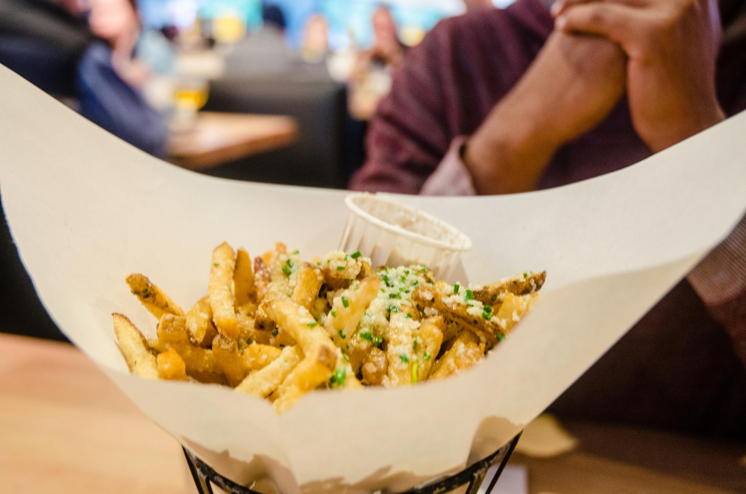 Parmesan Fries with Mushroom Sauce