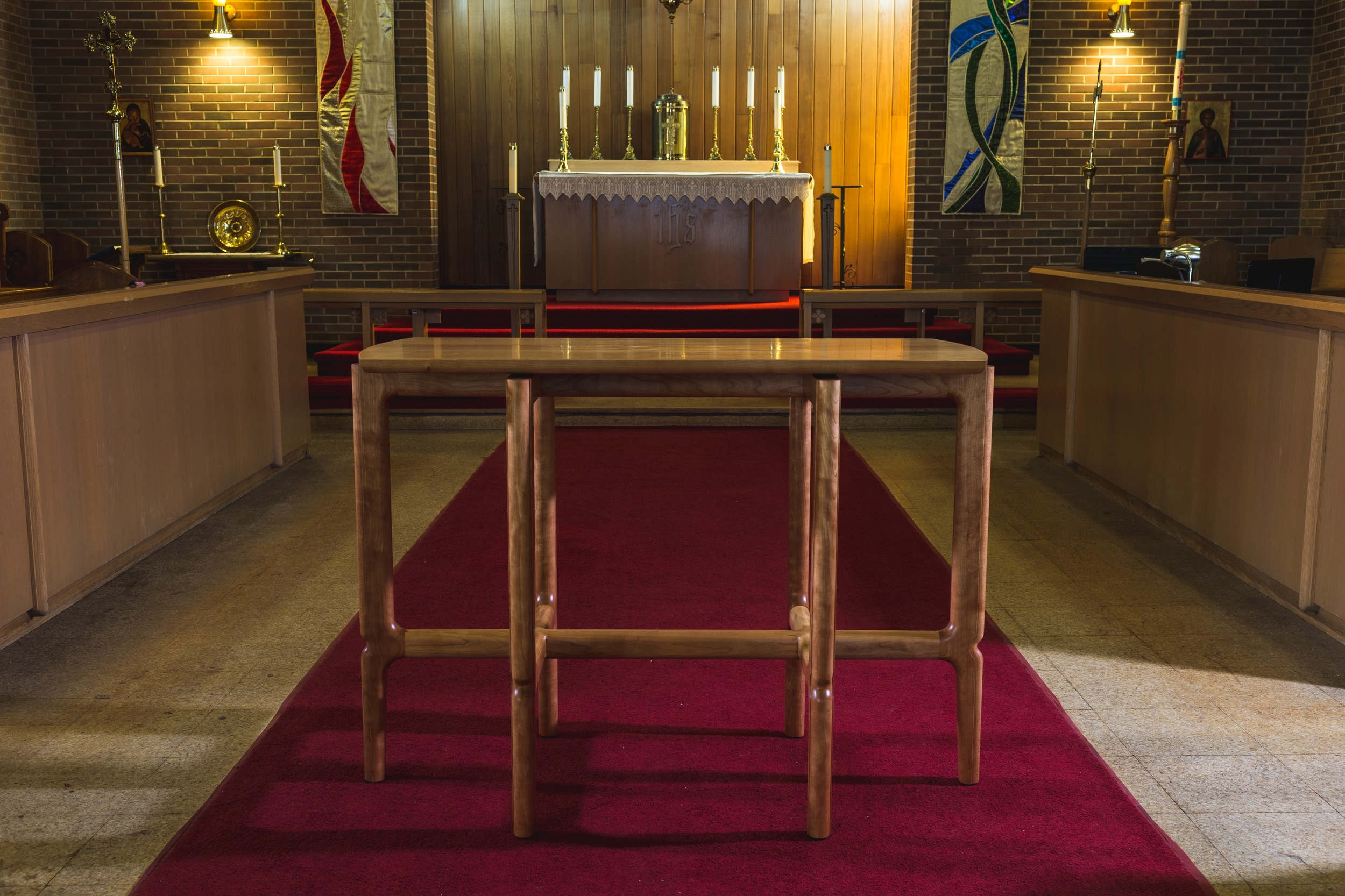Communion Table and Credence Tables by Kenton Jeske