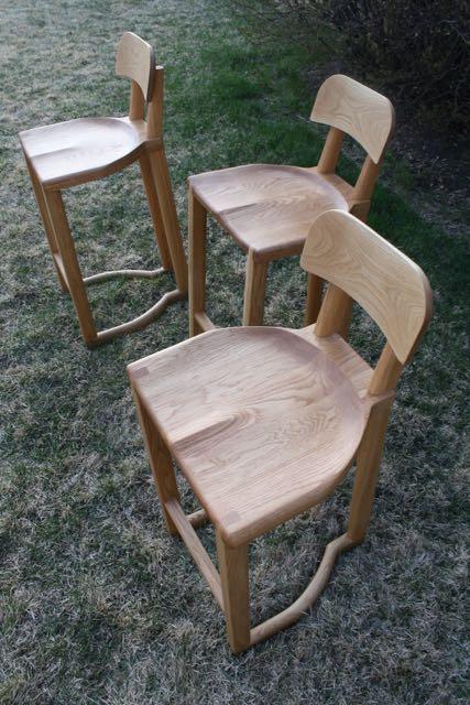 Low back stool by kenton Jeske