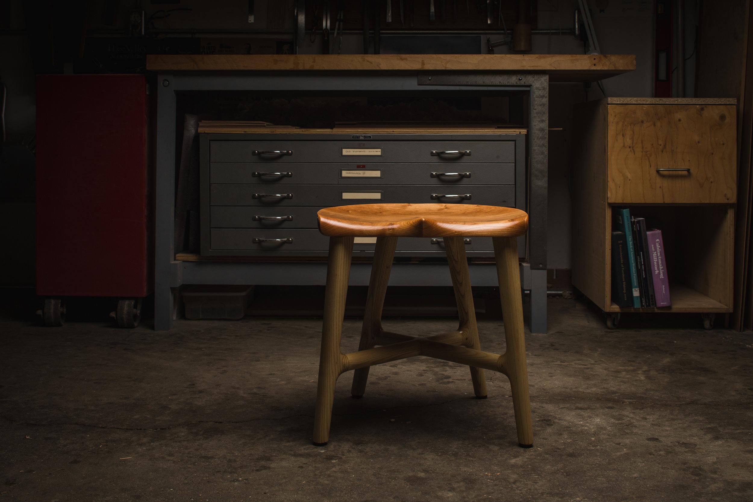 Bottomer stool by Kenton Jeske