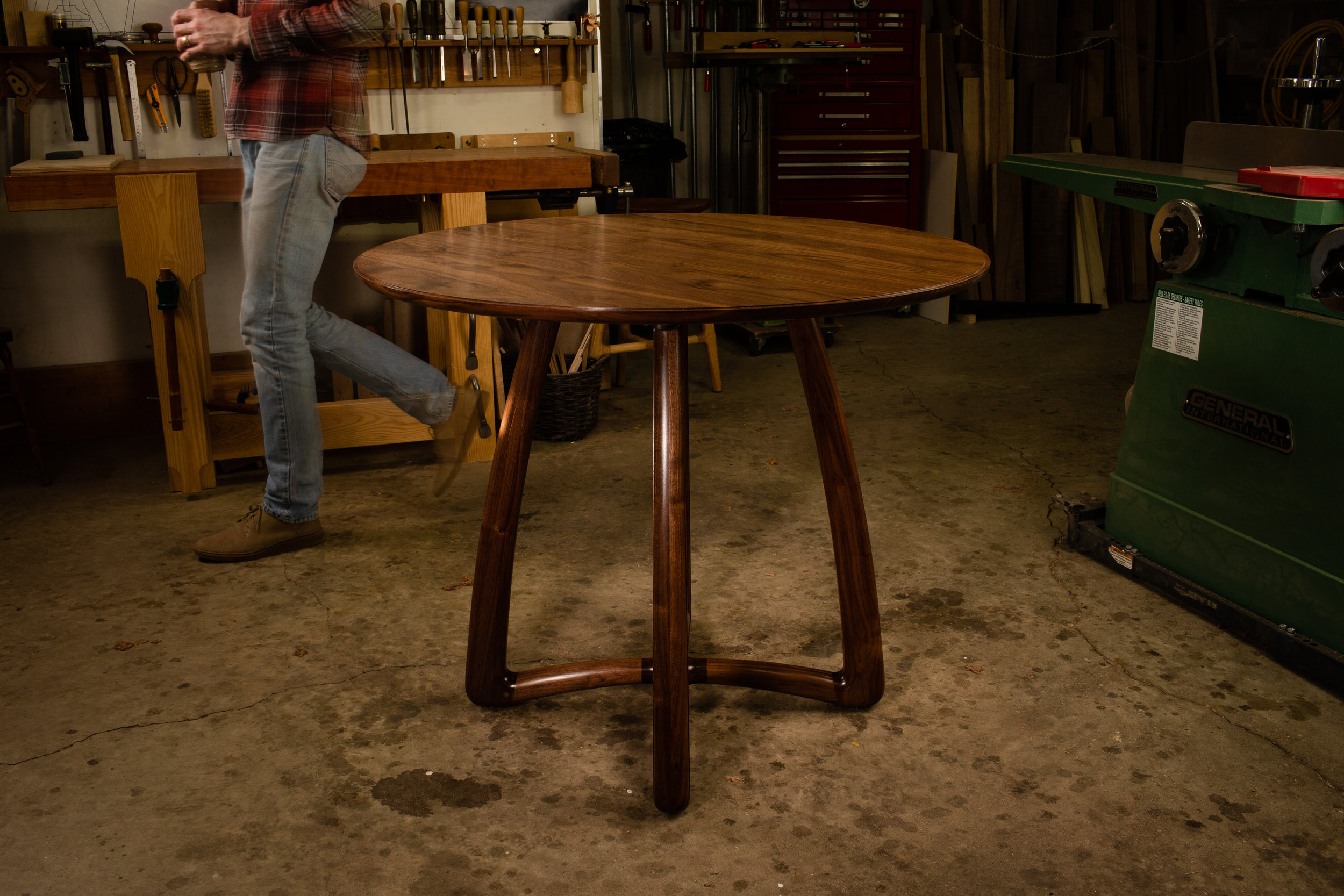 Round Dining Table by Kenton Jeske