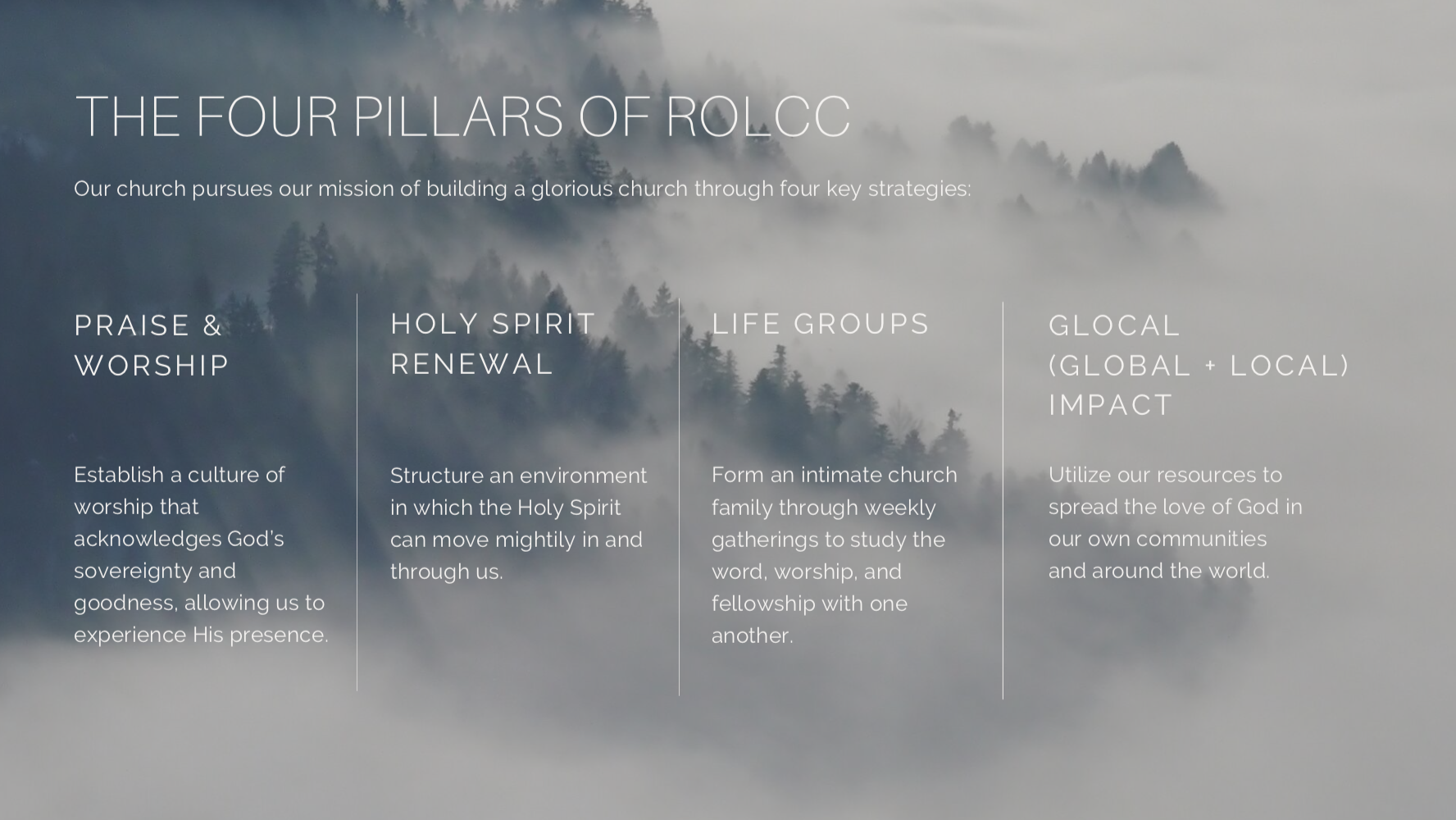 four pillars of rolcc