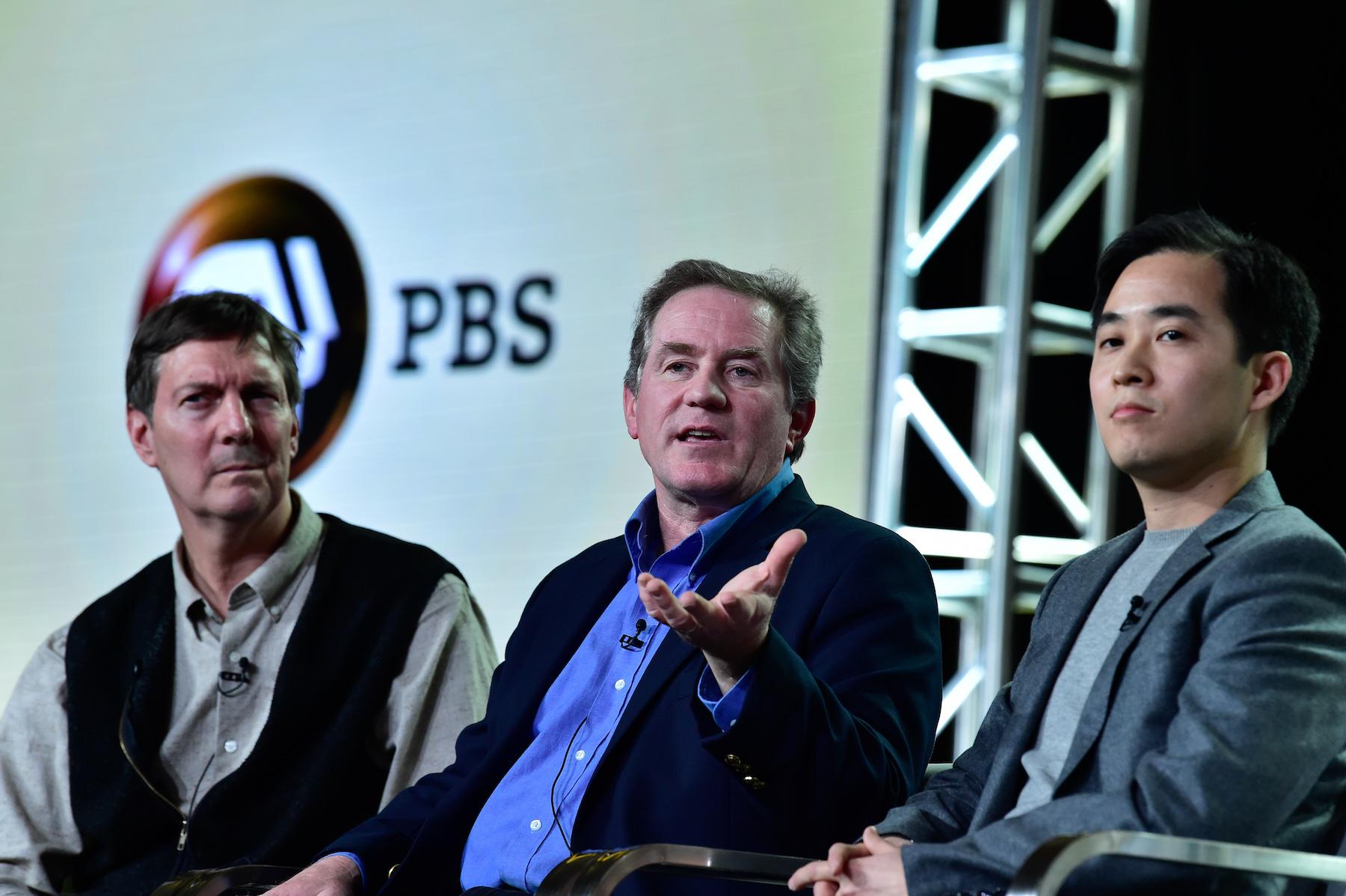 (l-r) John Bredar, Joel Sartore, Chun-Wei Yi. ©Rahoul Ghose/PBS