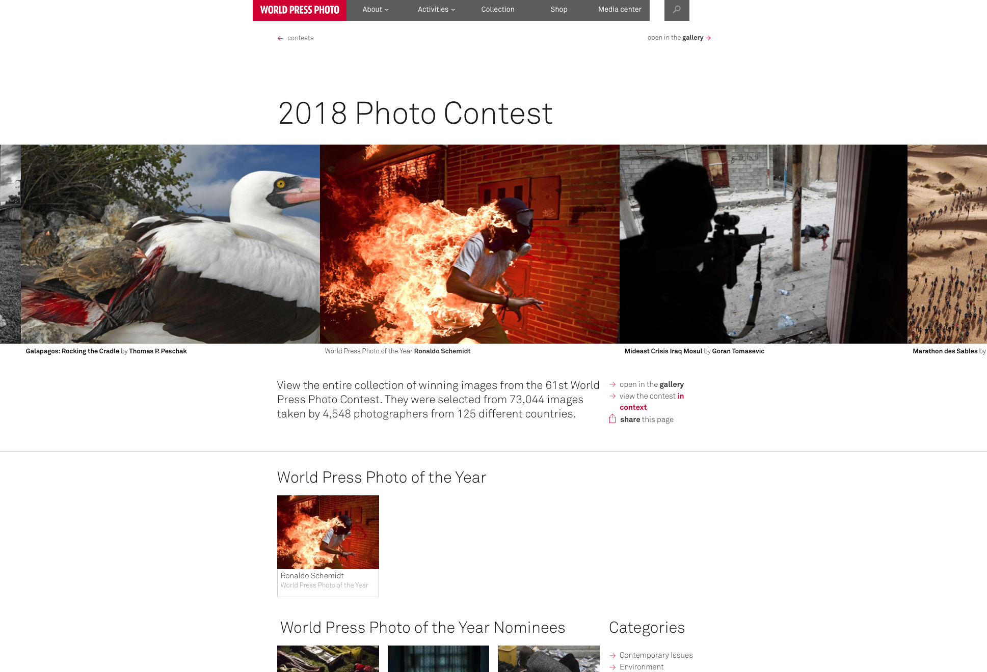 ©World Press Photo 2018 Awards