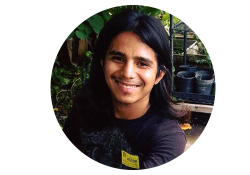 "Johnny started off training in RootDown's culinary programs and later fell in love with plants after taking Larry Santoyo's permaculture course. He says, ""Growing up in an area where there are more liquor stores then healthy food options, made me want to make a change. Growing healthier food for our community helps us eat healthier."""