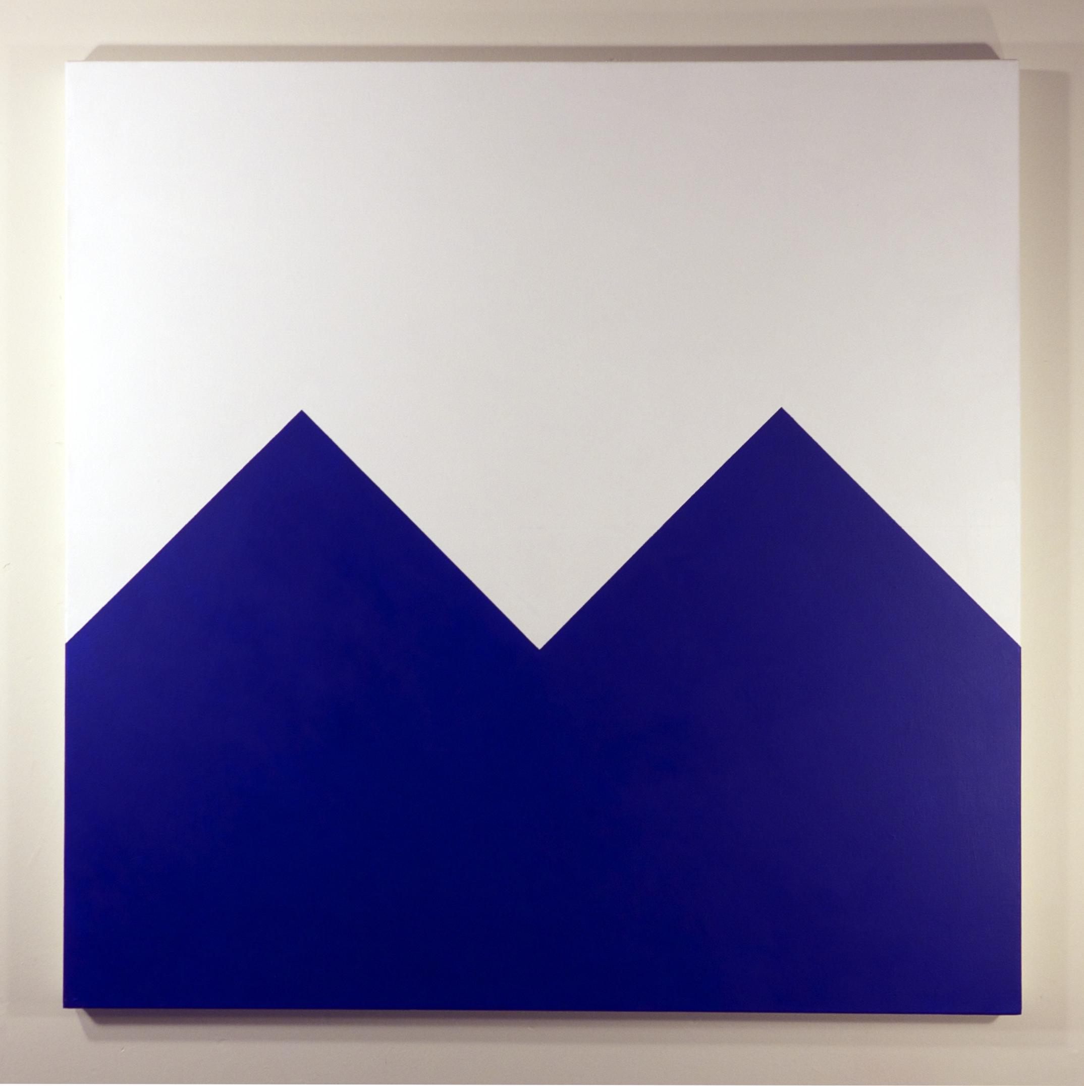 Tom Loveday,  blue Mountains Closeup , 2015, acrylic on canvas, 107 x 107 cm