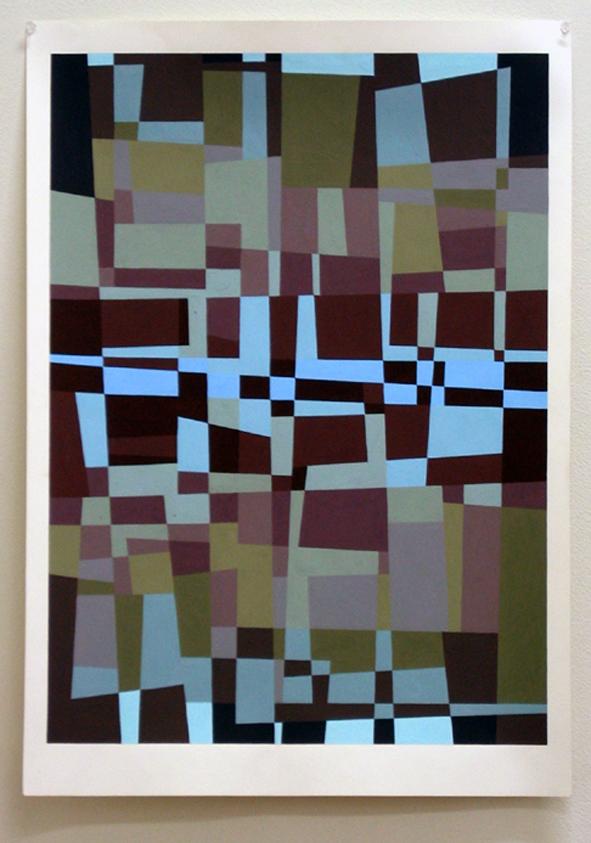 Loveday, Flat 2, gouache on 210 gsm white cartridge paper, 84 x 59 cm