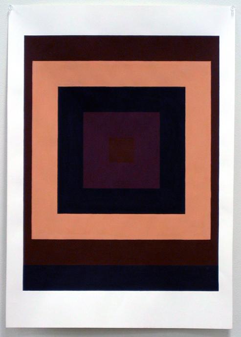 Tom Loveday, Flat 1, gouache on 210 gsm white cartridge paper, 84 x 59 cm