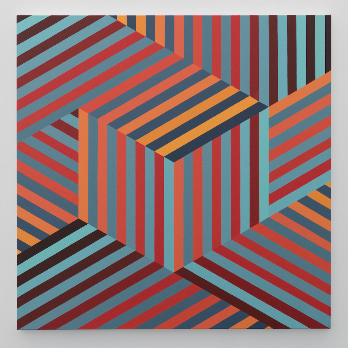 Tom Loveday Edge of Reality 1, 2018, Acrylic On Canvas 107 x 107 cm