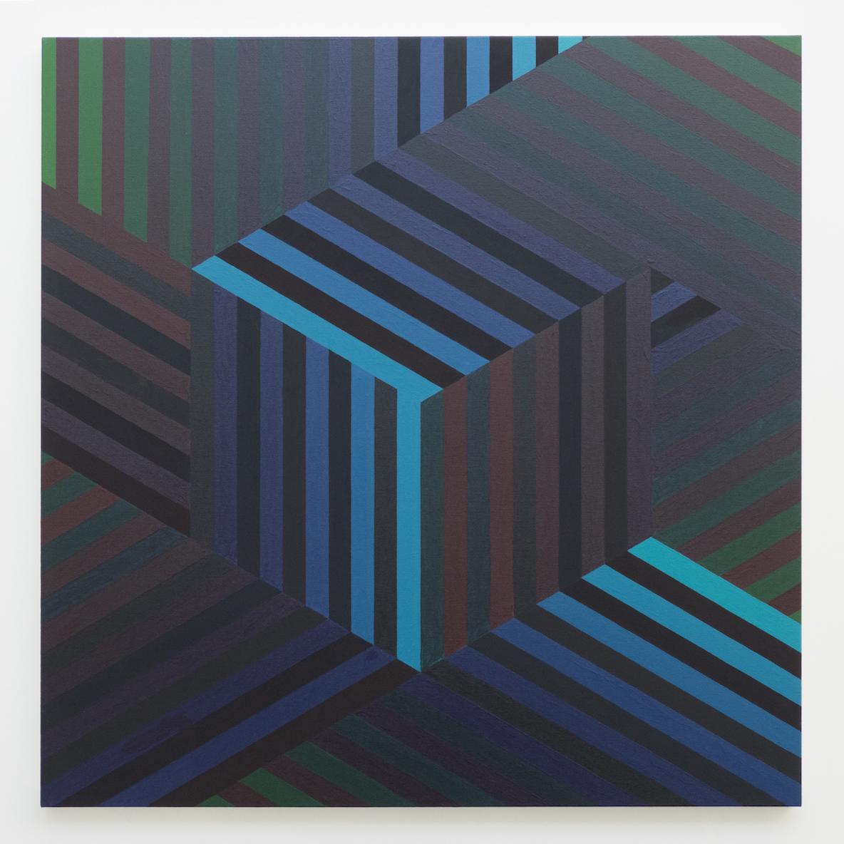 Tom Loveday Edge of Reality 2, 2018, Acrylic On Canvas 107 x 107 cm