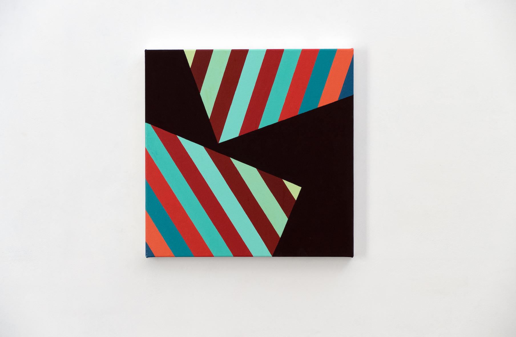 Tom Loveday Edge of Reality, Subordinate 7, 2018, Acrylic On Canvas 45 x 45 cm