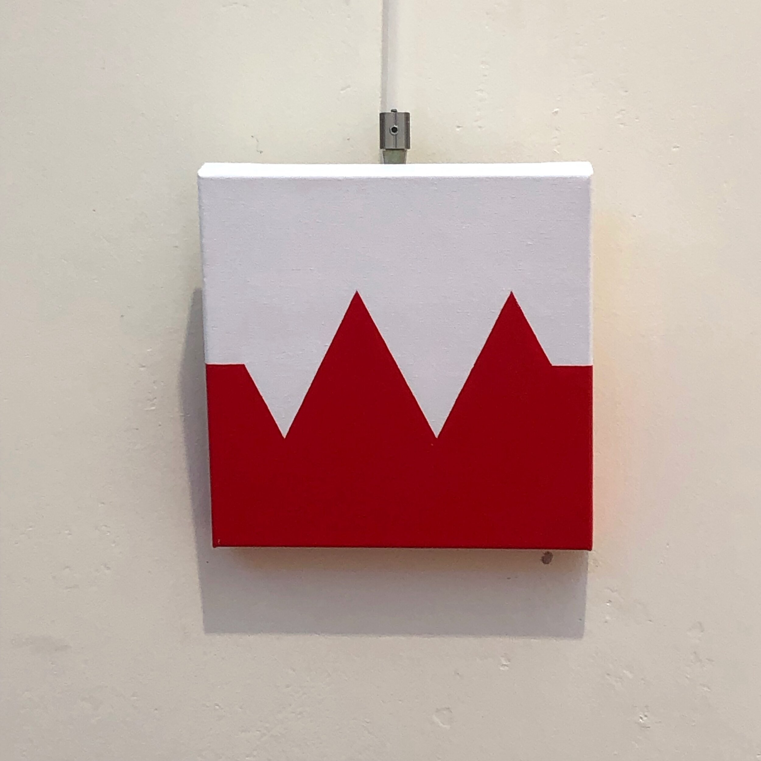 Tom Loveday,  Resistance , 2015, acrylic on canvas, 25 x 25 x 3.5 cm.